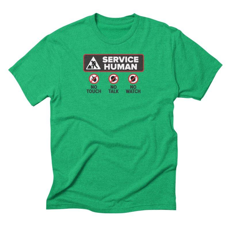 Service Human Men's Triblend T-Shirt by Puttyhead's Artist Shop
