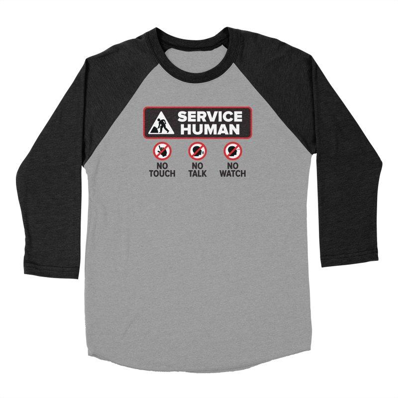 Service Human Men's Baseball Triblend Longsleeve T-Shirt by Puttyhead's Artist Shop