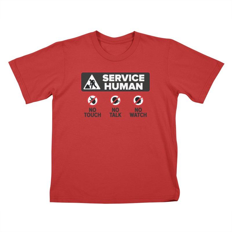 Service Human Kids T-Shirt by Puttyhead's Artist Shop