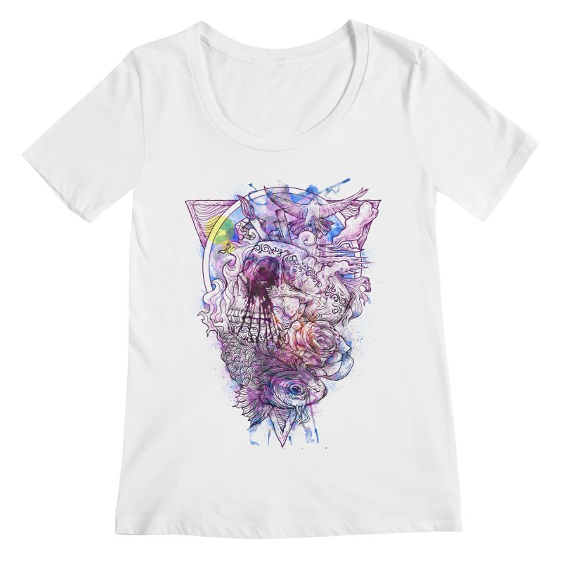 Free Your Mind Women's Scoopneck by QIMSTUDIO's Artist Shop