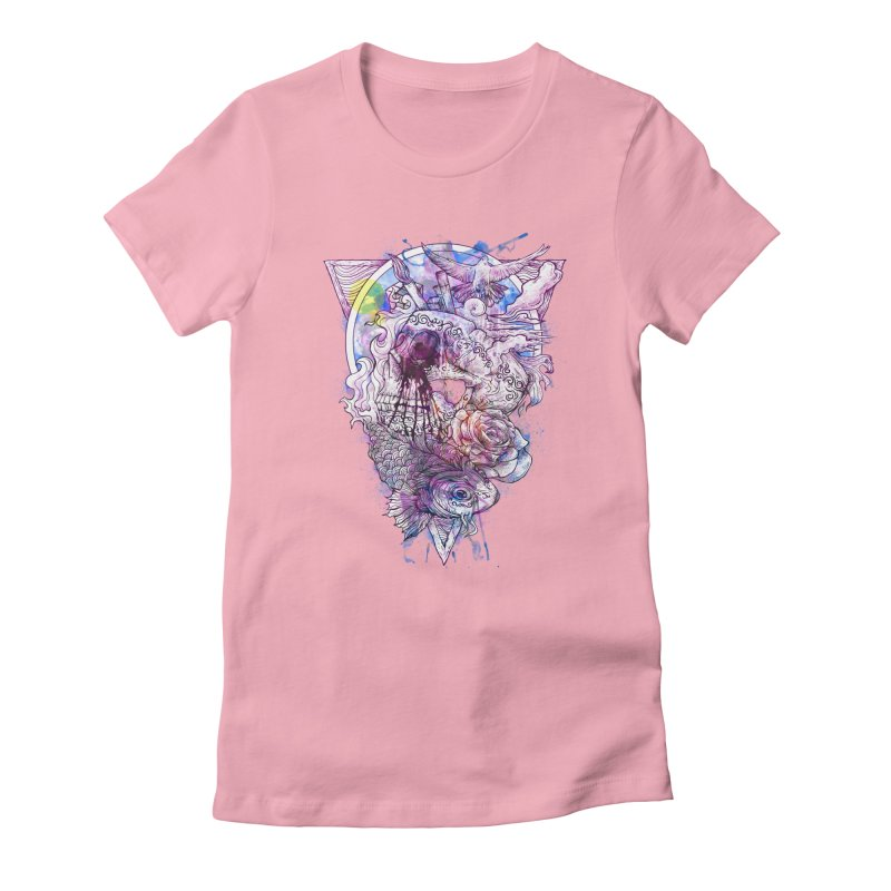 Free Your Mind Women's Fitted T-Shirt by QIMSTUDIO's Artist Shop