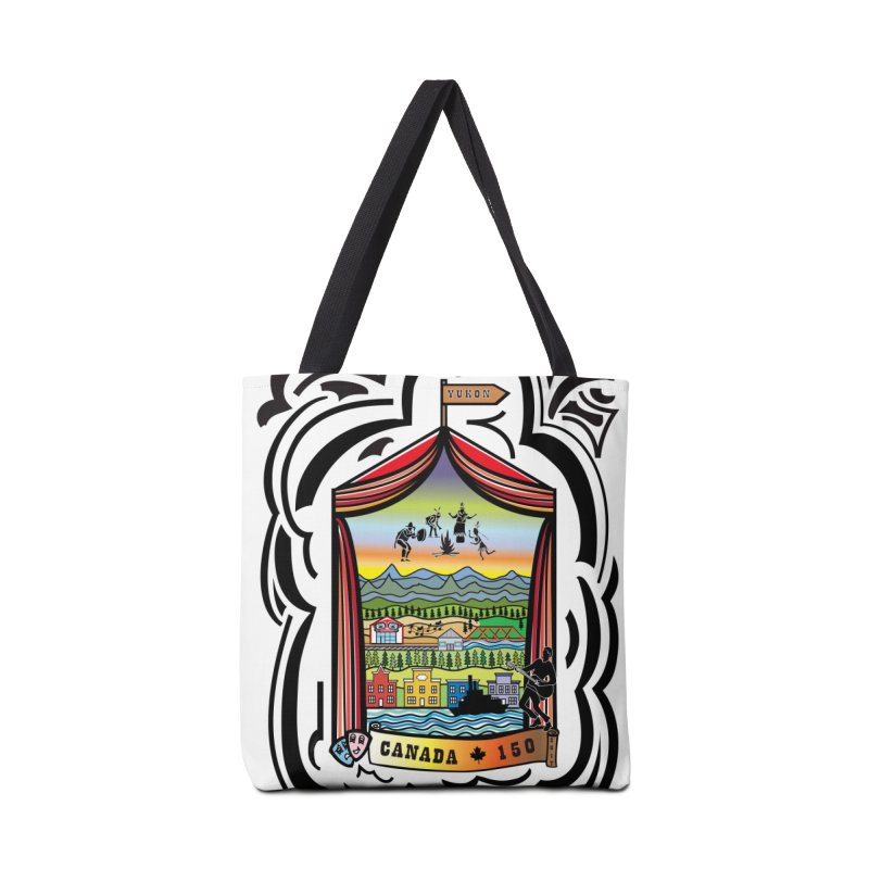 Canada 150 in the Yukon in Tote Bag by The Qaqtis Online Shop