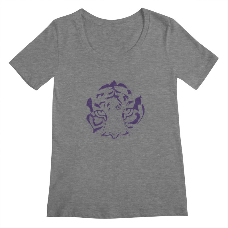 Tiger Women's Scoopneck by RAIDORETTE's Shop