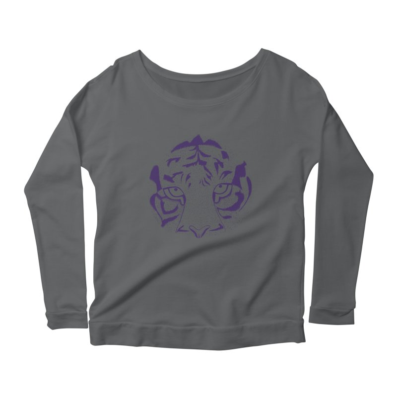 Tiger Women's Longsleeve Scoopneck  by RAIDORETTE's Shop