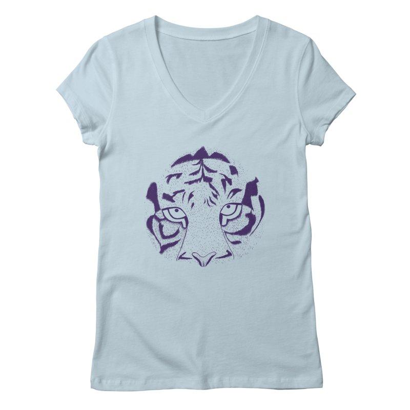Tiger Women's V-Neck by RAIDORETTE's Shop