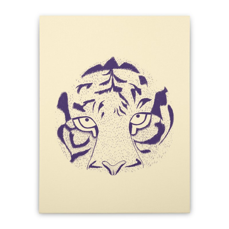 Tiger Home Stretched Canvas by RAIDORETTE's Shop