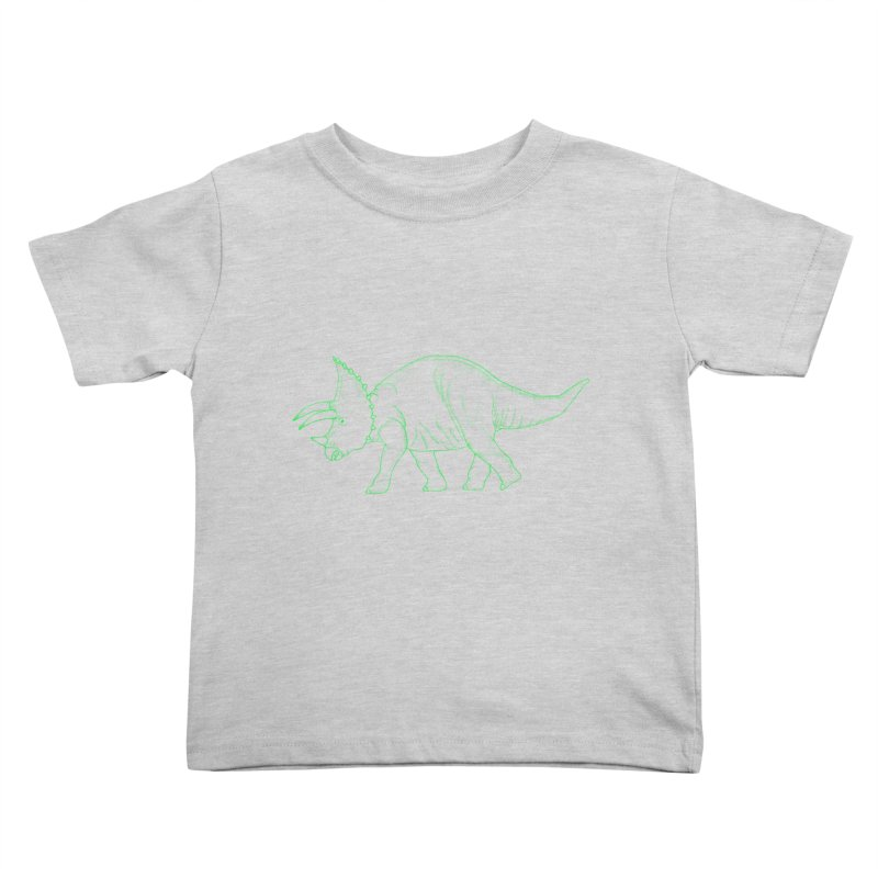 Triceratops Kids Toddler T-Shirt by RAIDORETTE's Shop