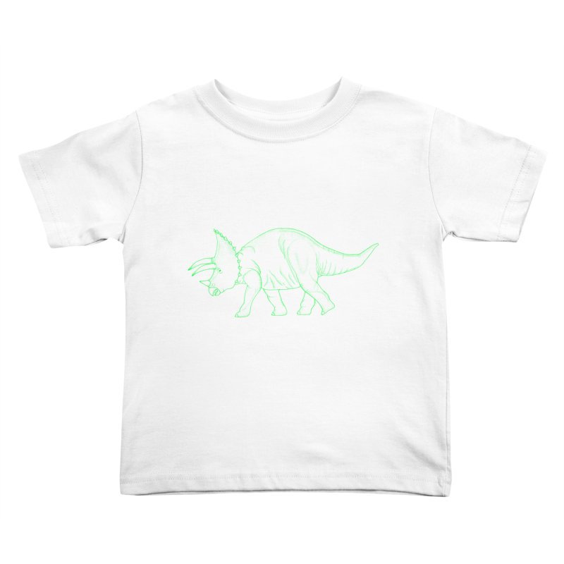 Triceratops Kids Toddler T-Shirt by RAIDORETTE's Shop