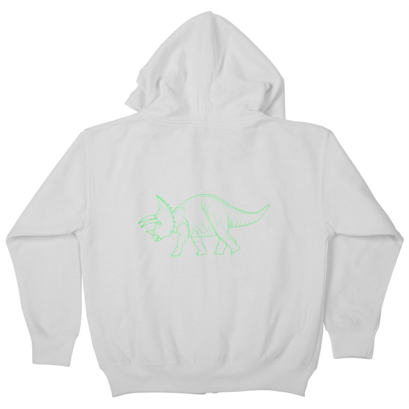 Triceratops Kids Zip-Up Hoody by RAIDORETTE's Shop