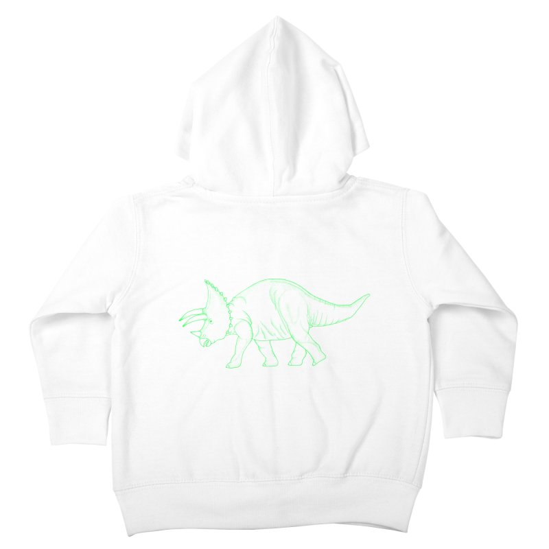 Triceratops Kids Toddler Zip-Up Hoody by RAIDORETTE's Shop