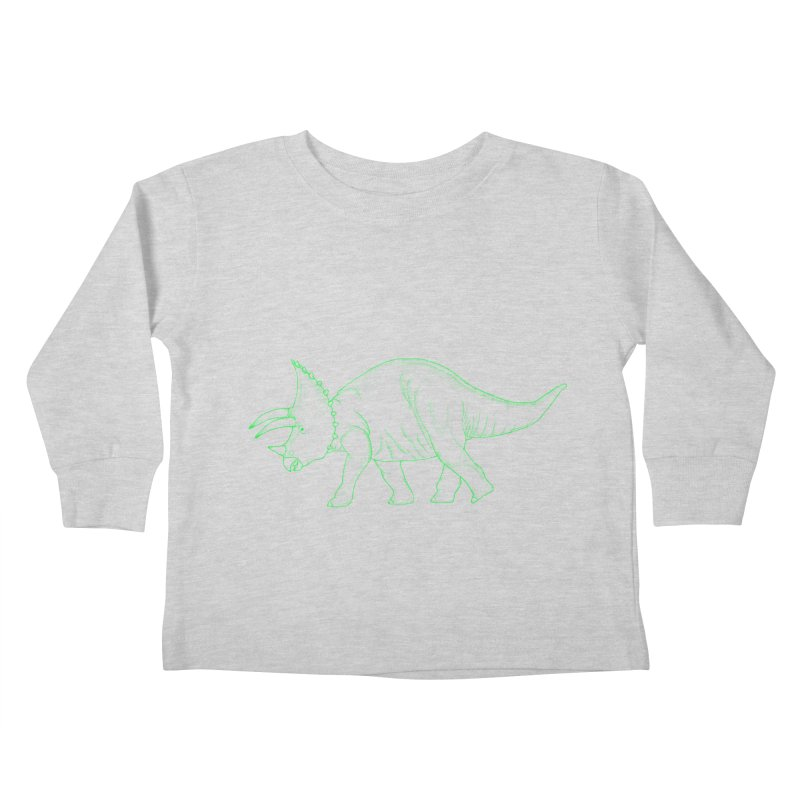 Triceratops Kids Toddler Longsleeve T-Shirt by RAIDORETTE's Shop