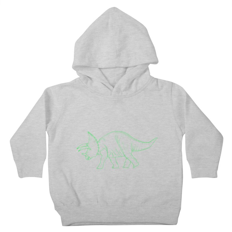Triceratops Kids Toddler Pullover Hoody by RAIDORETTE's Shop
