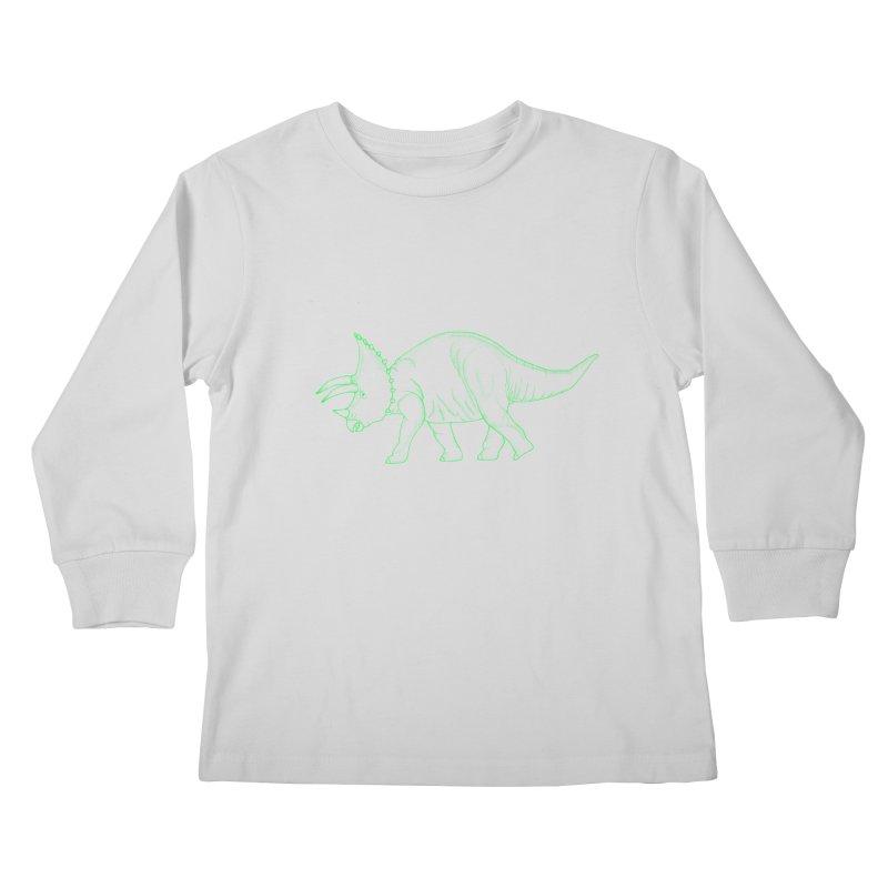 Triceratops Kids Longsleeve T-Shirt by RAIDORETTE's Shop