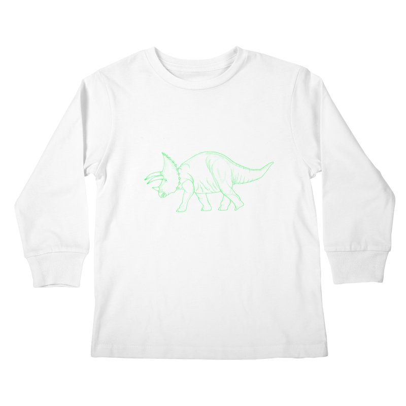 Triceratops Kids Longsleeve T-Shirt by RAIDORETTE's Shop