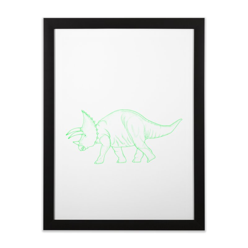 Triceratops Home Framed Fine Art Print by RAIDORETTE's Shop