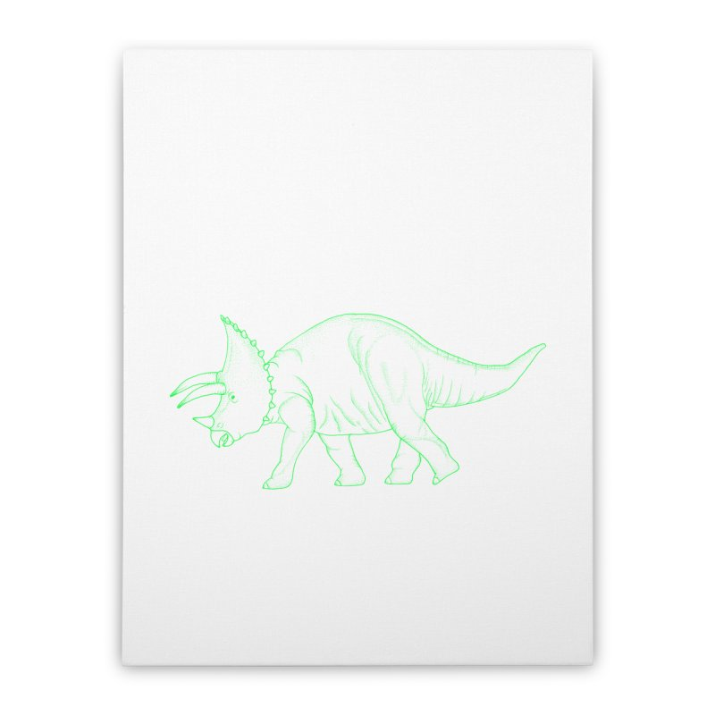 Triceratops Home Stretched Canvas by RAIDORETTE's Shop
