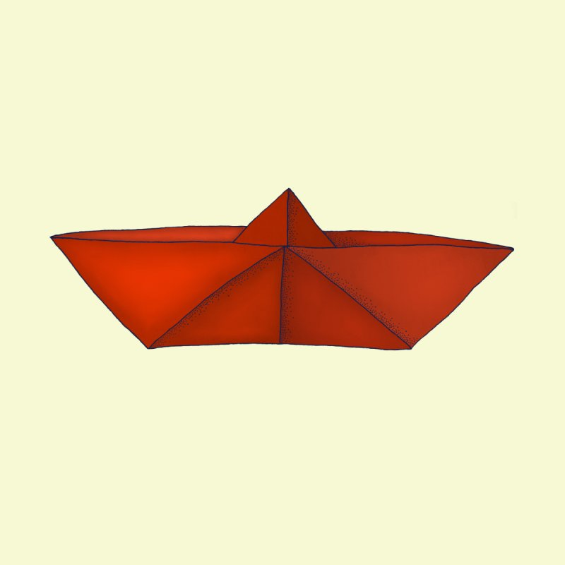 Orange Paper Boat by RAIDORETTE's Shop