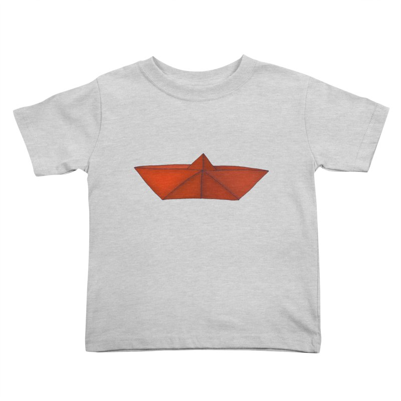 Orange Paper Boat Kids Toddler T-Shirt by RAIDORETTE's Shop