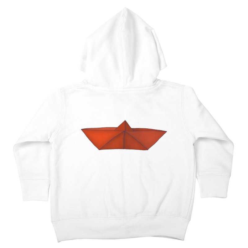 Orange Paper Boat Kids Toddler Zip-Up Hoody by RAIDORETTE's Shop