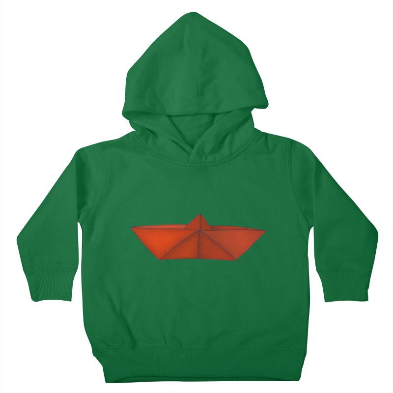 Orange Paper Boat Kids Toddler Pullover Hoody by RAIDORETTE's Shop