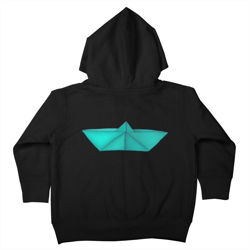 Turquoise Paper Boat Kids Toddler Zip-Up Hoody by RAIDORETTE's Shop