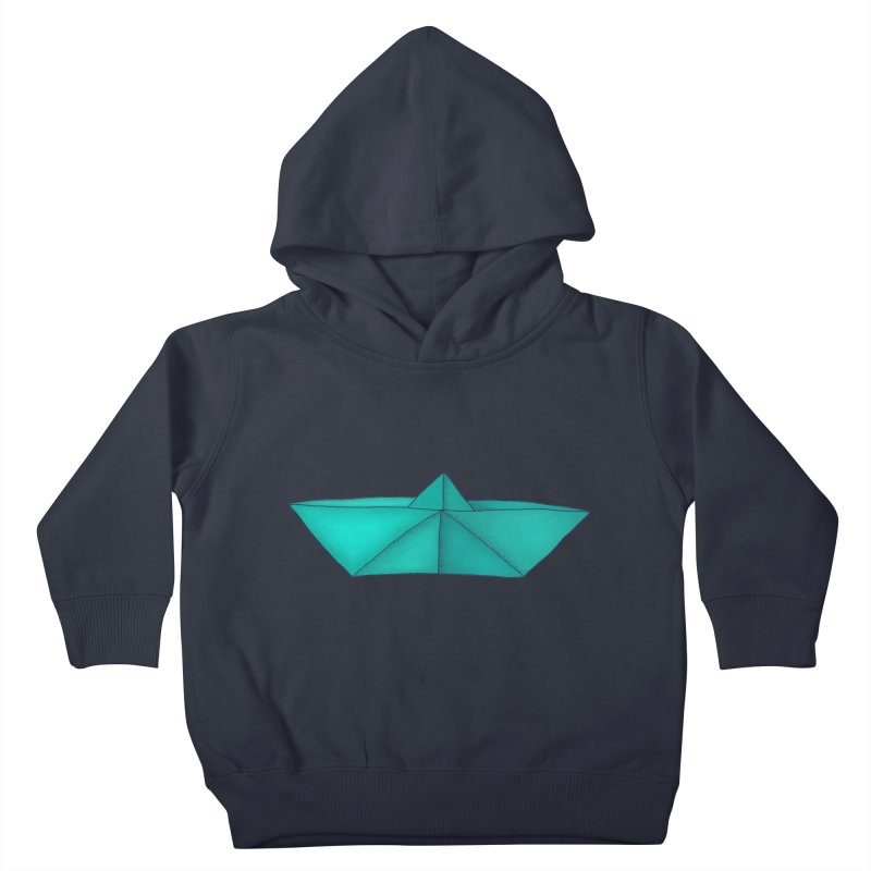 Turquoise Paper Boat Kids Toddler Pullover Hoody by RAIDORETTE's Shop