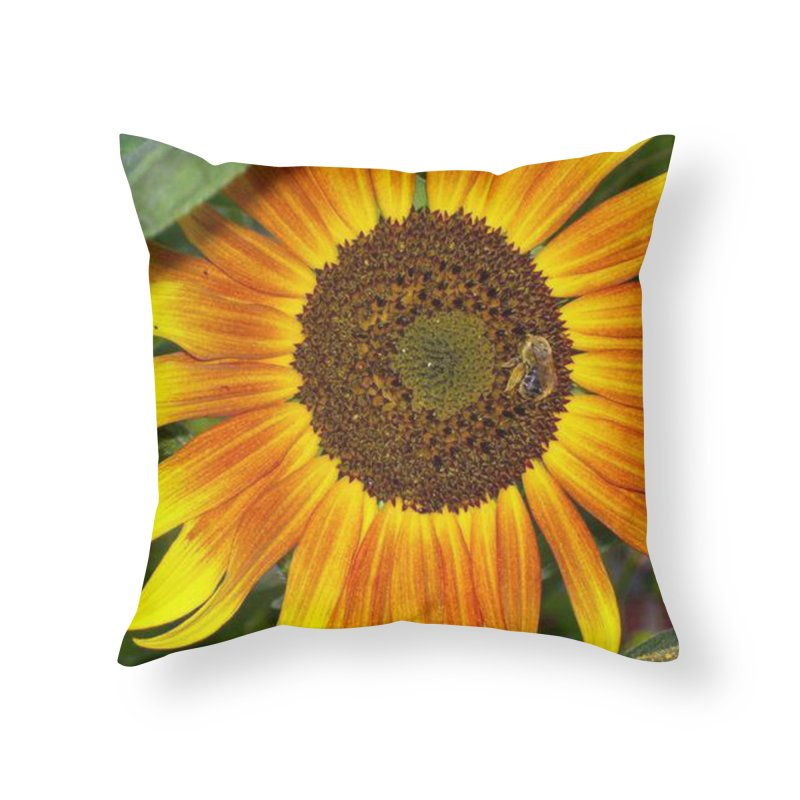 sun flower in Throw Pillow by RLGarts's Artist Shop