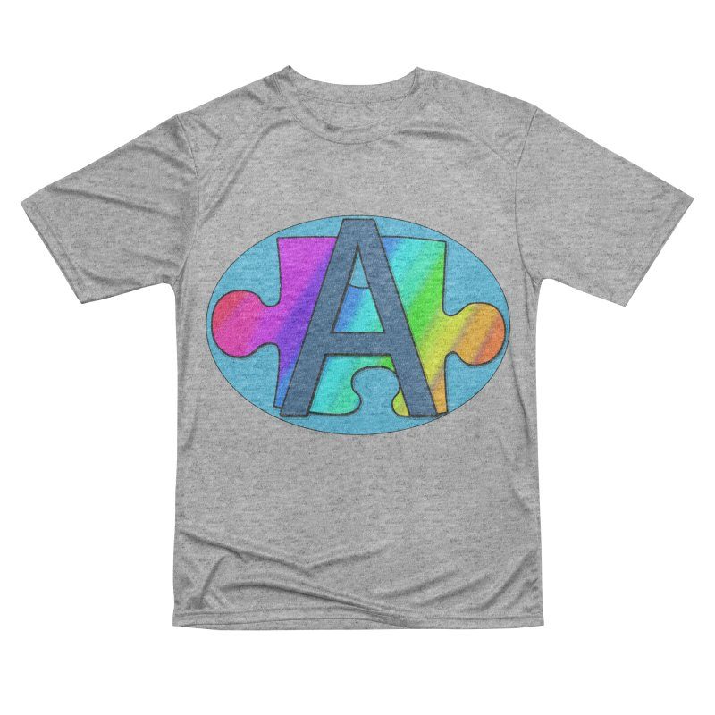 Super A in Men's Performance T-Shirt Heather Graphite by RLGarts's Artist Shop