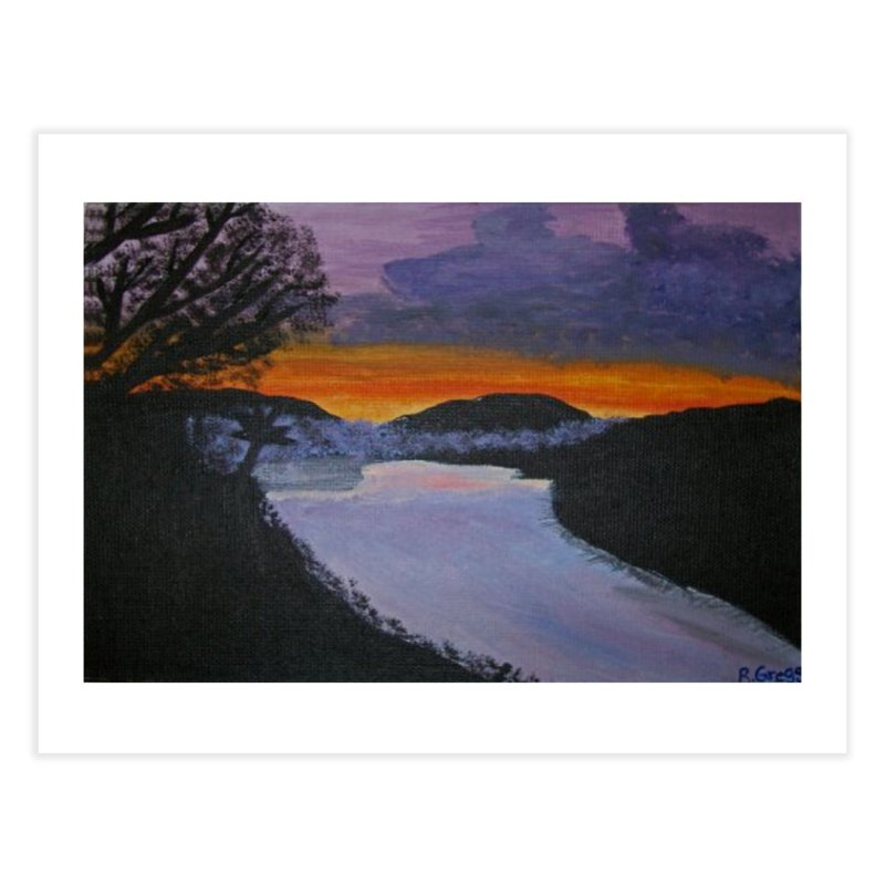Sunset on the water Home Fine Art Print by RLGarts's Artist Shop