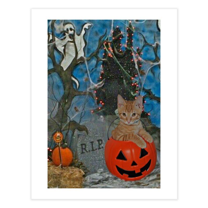 Tiger Halloween Home Fine Art Print by RLGarts's Artist Shop