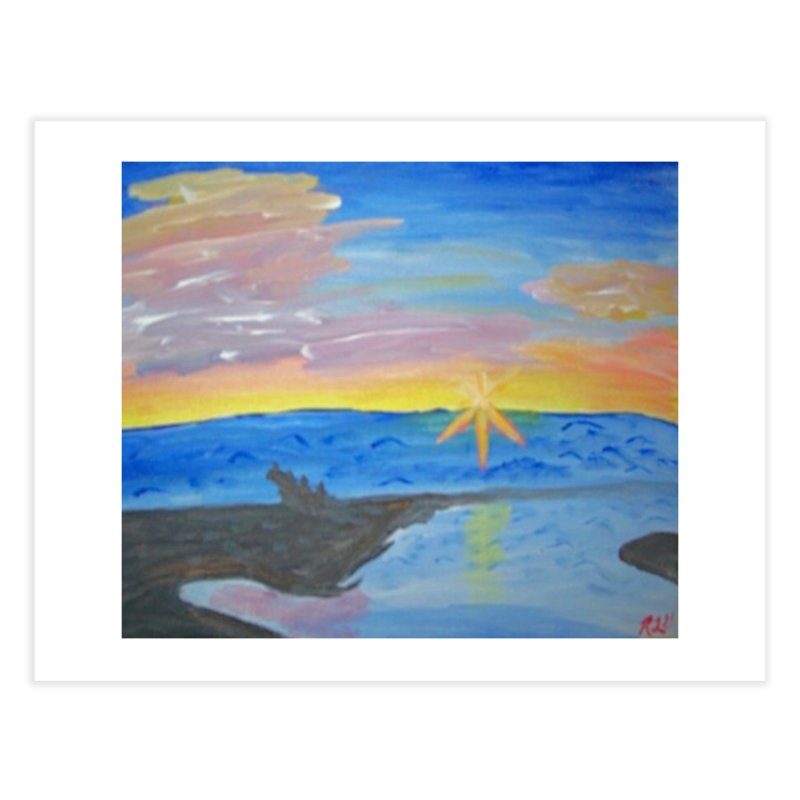 sunset on the beach Home Fine Art Print by RLGarts's Artist Shop