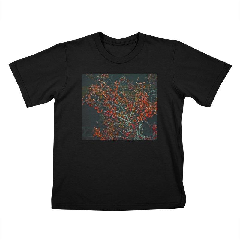 Red Tree Kids T-Shirt by RLGarts's Artist Shop