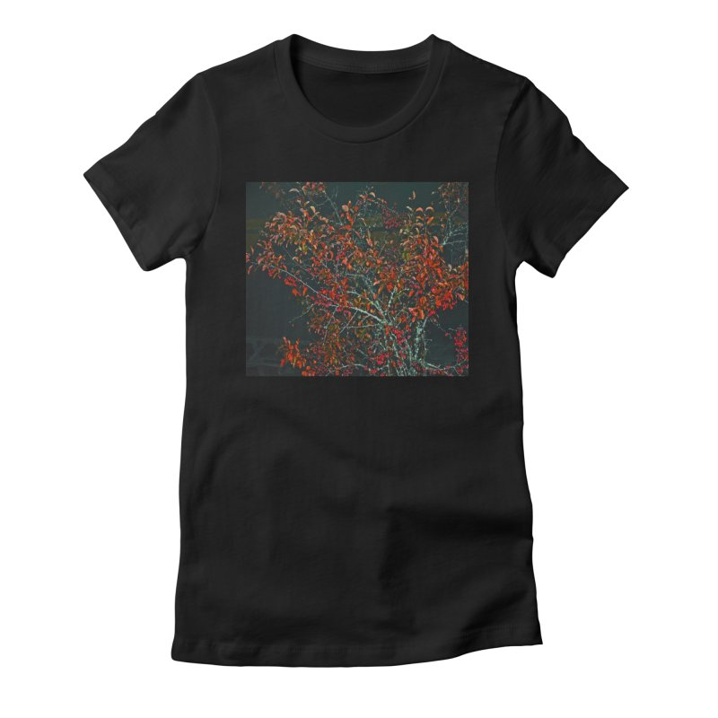 Red Tree Women's Fitted T-Shirt by RLGarts's Artist Shop