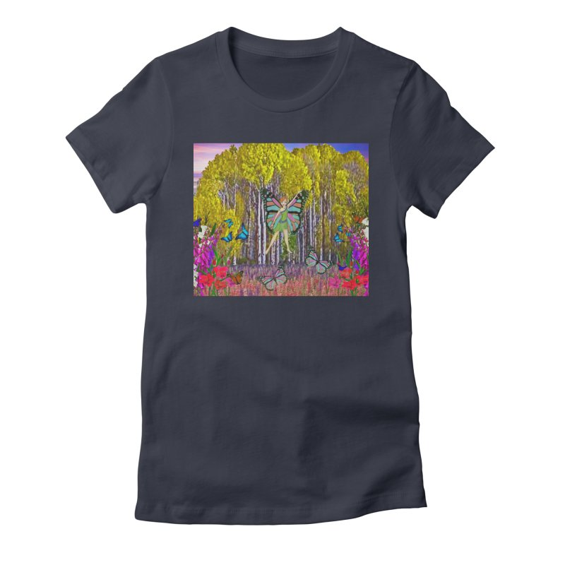 Fairy Women's Fitted T-Shirt by RLGarts's Artist Shop