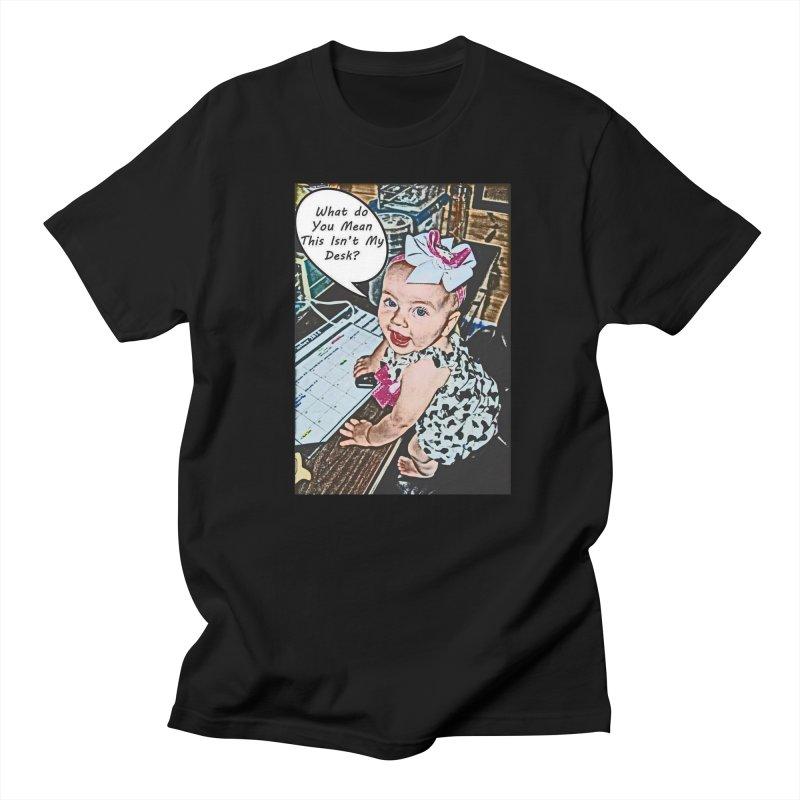 My Desk Men's Regular T-Shirt by RLGarts's Artist Shop