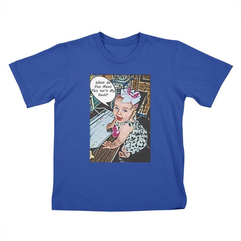 My Desk Kids T-Shirt by RLGarts's Artist Shop