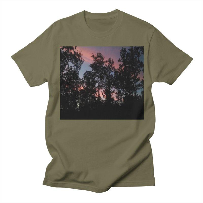 pink skies Men's Regular T-Shirt by RLGarts's Artist Shop