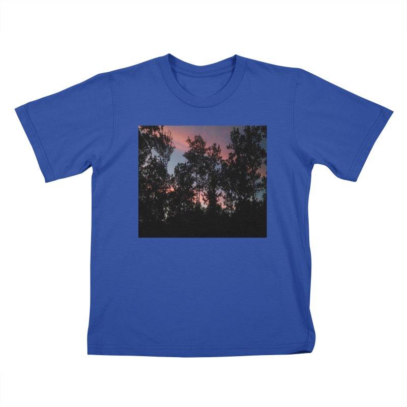 pink skies Kids T-Shirt by RLGarts's Artist Shop