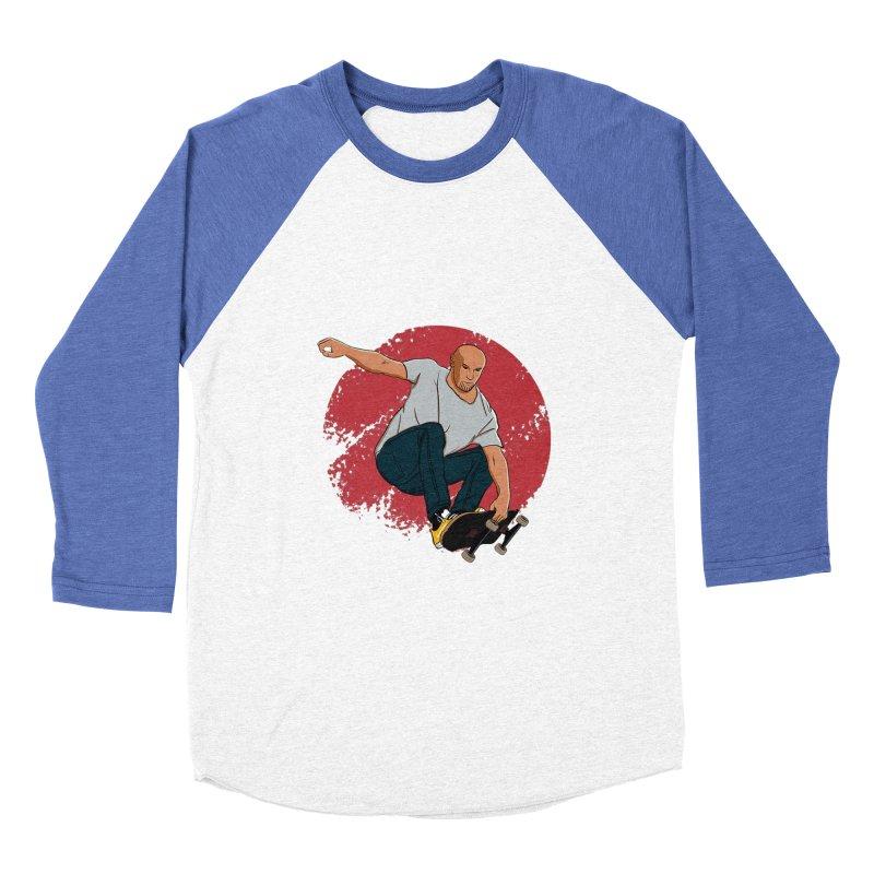 Thanos enjoy his Summer Men's Baseball Triblend Longsleeve T-Shirt by RLLBCK Clothing Co.