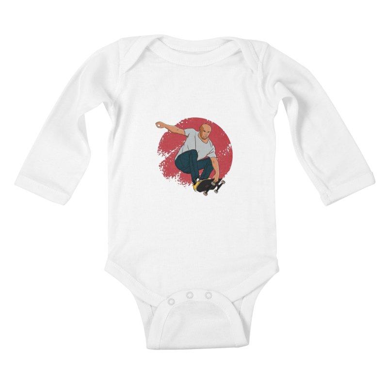 Thanos enjoy his Summer Kids Baby Longsleeve Bodysuit by RLLBCK Clothing Co.