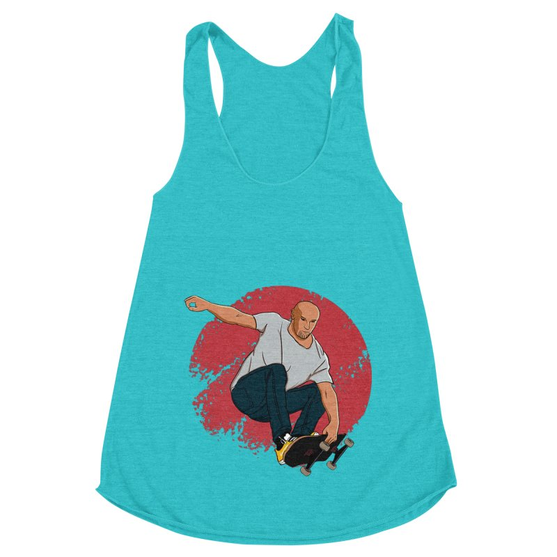 Thanos enjoy his Summer Women's Racerback Triblend Tank by RLLBCK Clothing Co.