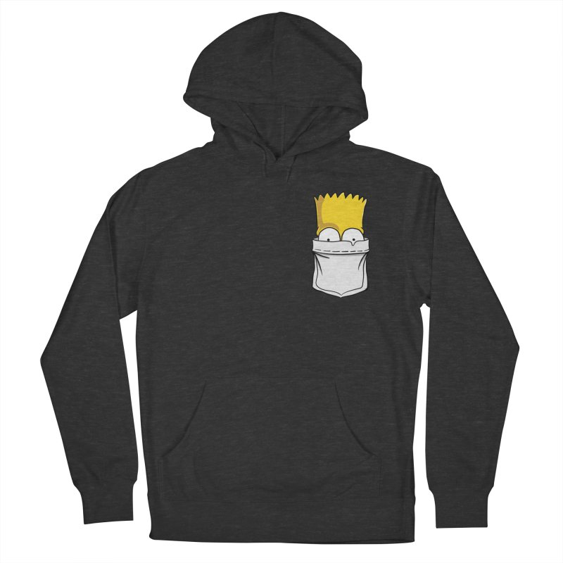 Bart Simpson in My Pocket Women's French Terry Pullover Hoody by RLLBCK Clothing Co.