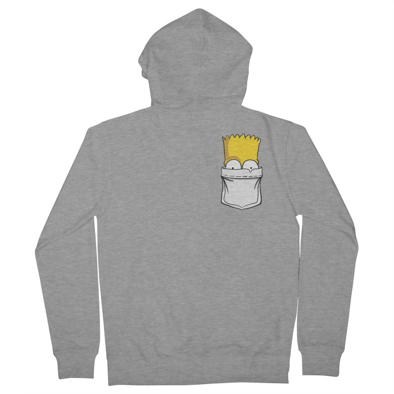 Bart Simpson in My Pocket Women's French Terry Zip-Up Hoody by RLLBCK Clothing Co.