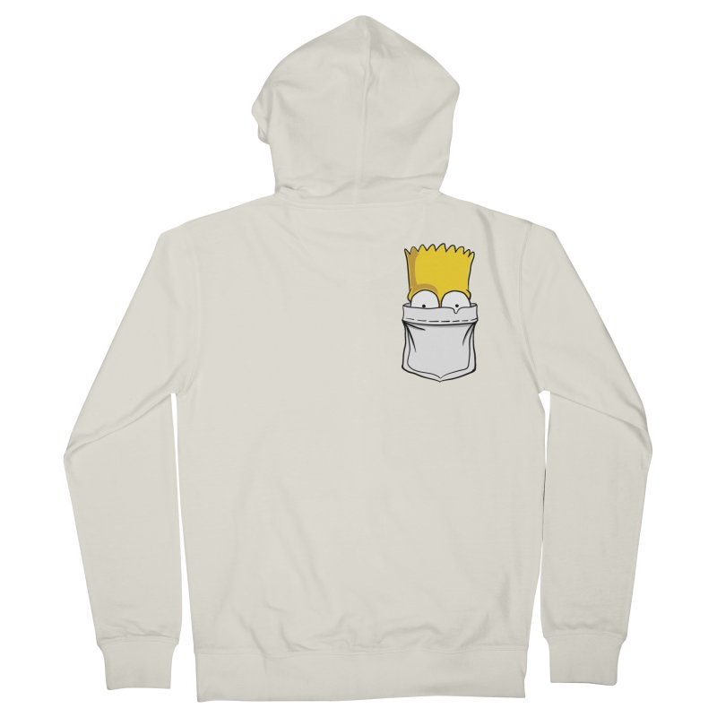 Bart Simpson in My Pocket Men's French Terry Zip-Up Hoody by RLLBCK Clothing Co.