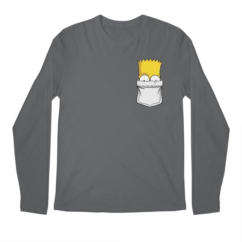 Bart Simpson in My Pocket Men's Regular Longsleeve T-Shirt by RLLBCK Clothing Co.