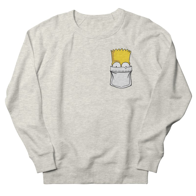 Bart Simpson in My Pocket Women's French Terry Sweatshirt by RLLBCK Clothing Co.