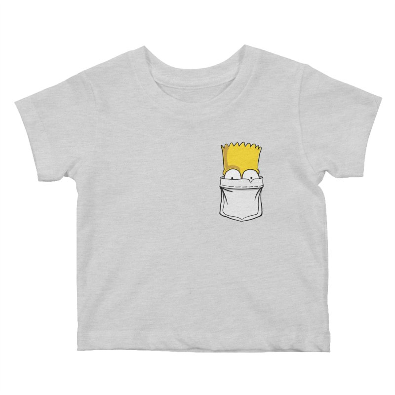 Bart Simpson in My Pocket Kids Baby T-Shirt by RLLBCK Clothing Co.