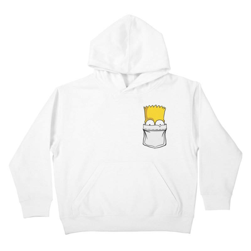 Bart Simpson in My Pocket Kids Pullover Hoody by RLLBCK Clothing Co.