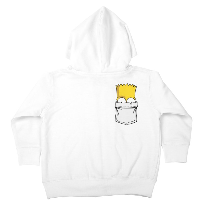 Bart Simpson in My Pocket Kids Toddler Zip-Up Hoody by RLLBCK Clothing Co.