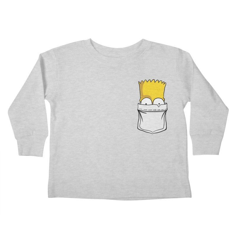 Bart Simpson in My Pocket Kids Toddler Longsleeve T-Shirt by RLLBCK Clothing Co.